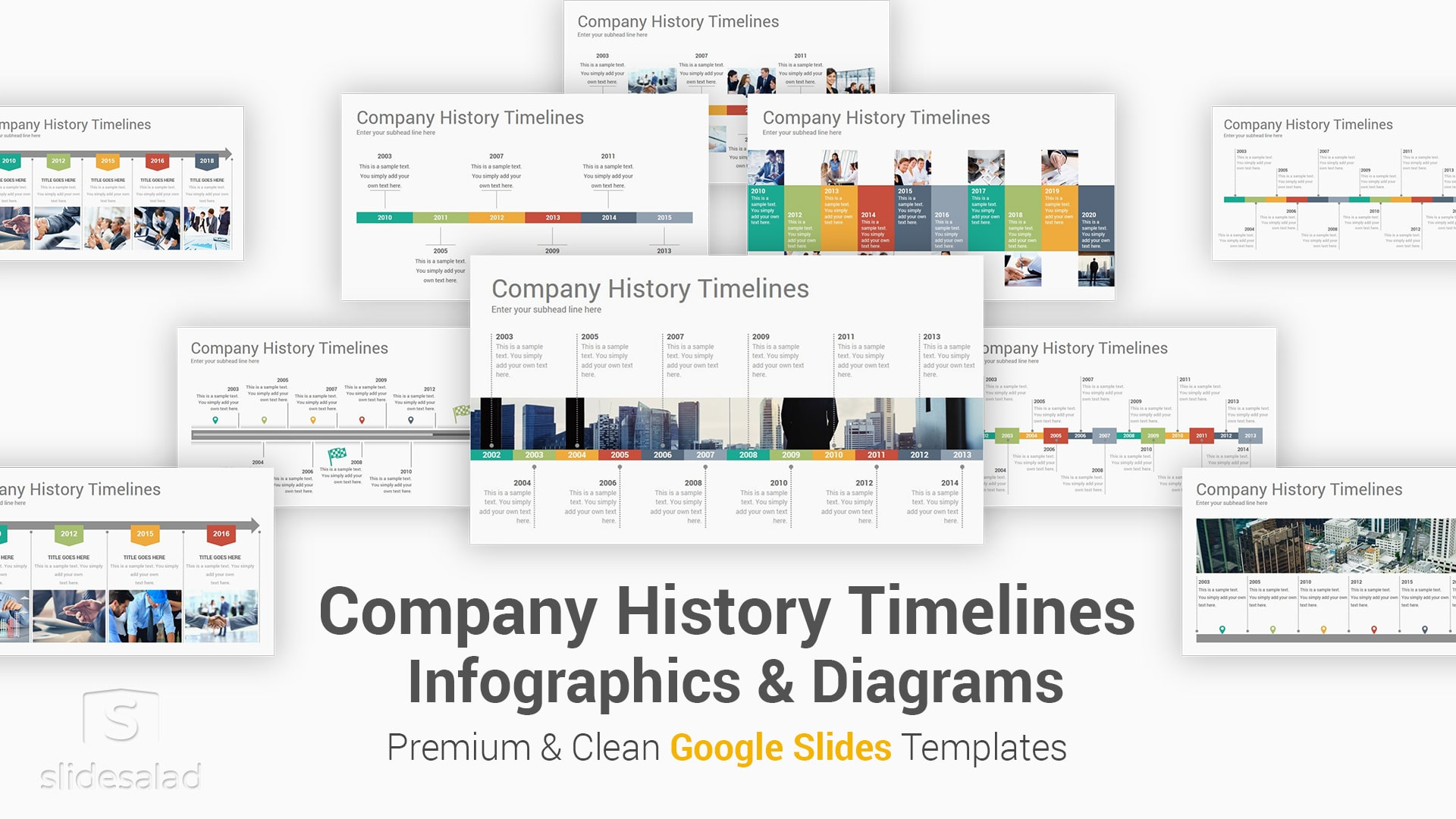 Company History Timelines Diagrams Google Slides Presentation Template