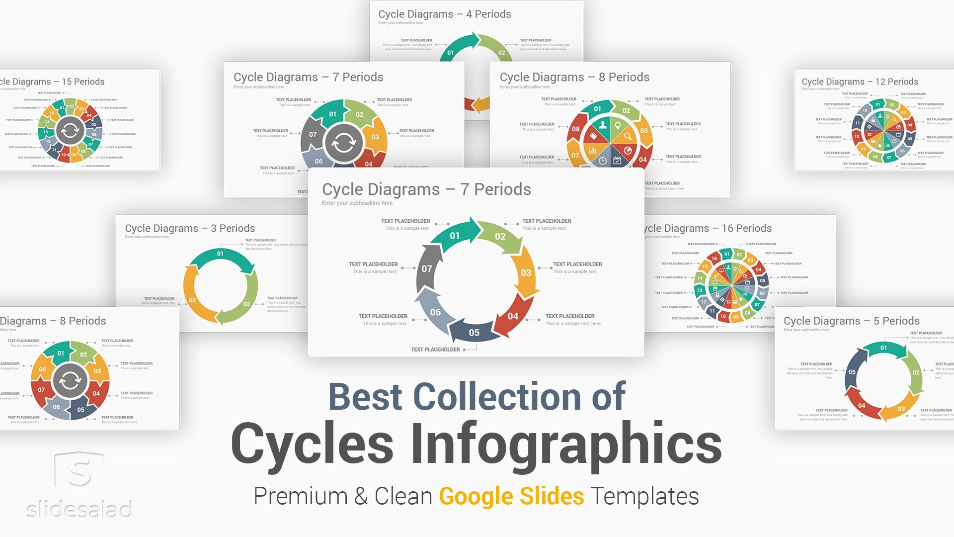 Cycle Diagrams Google Slides Template Designs