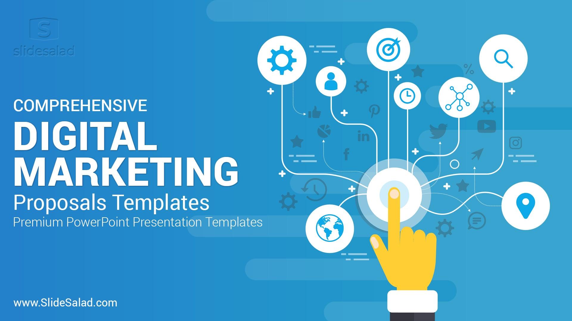 Digital Marketing Proposals PowerPoint Templates – Multipurpose Cool Premium PowerPoint