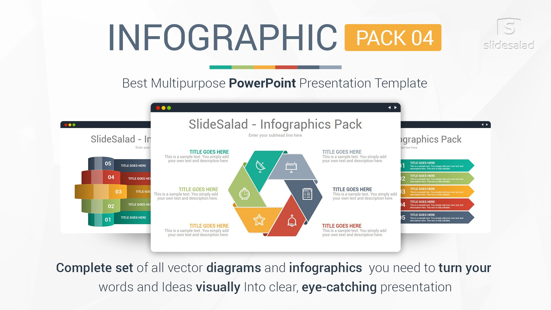 Best Infographics Designs PowerPoint Template Pack 01 – Multipurpose Elegant Infographics PowerPoint Template