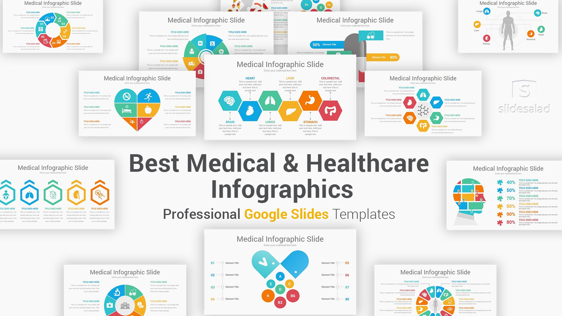 Medical And Healthcare Infographics Google Slides Template