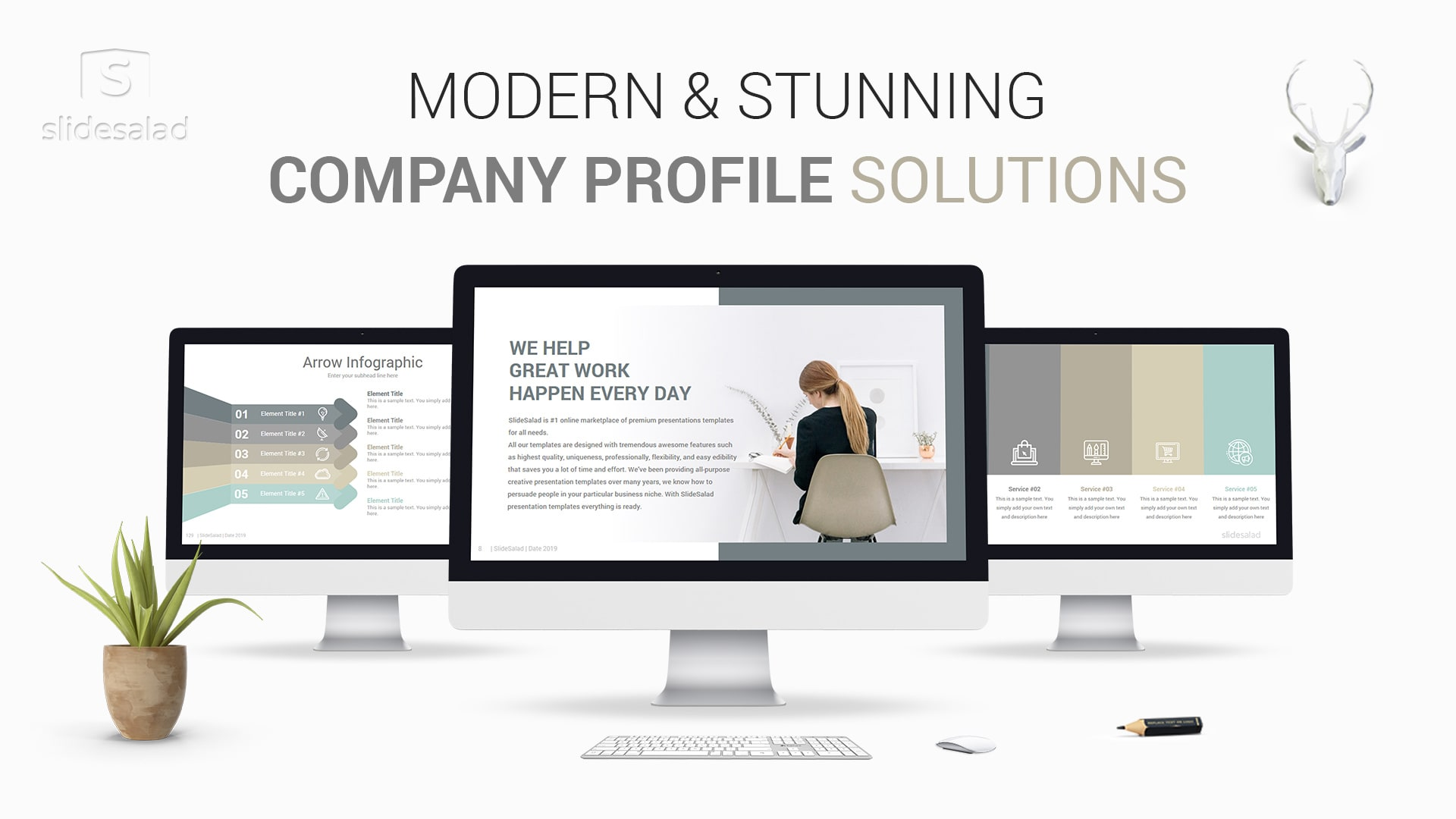 Modern Company Profile PowerPoint Template Designs – Cool PPT Template with Modern Design