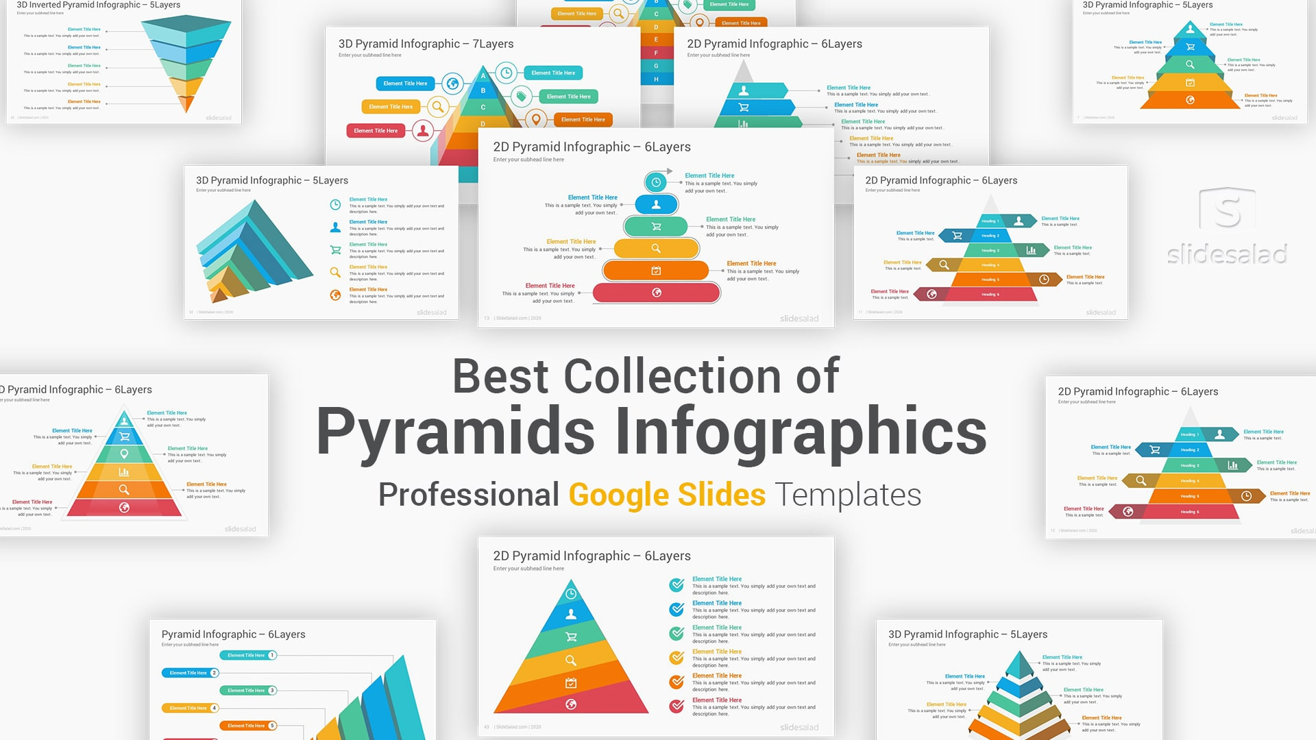 Pyramid Infographics Google Slides Template Diagrams