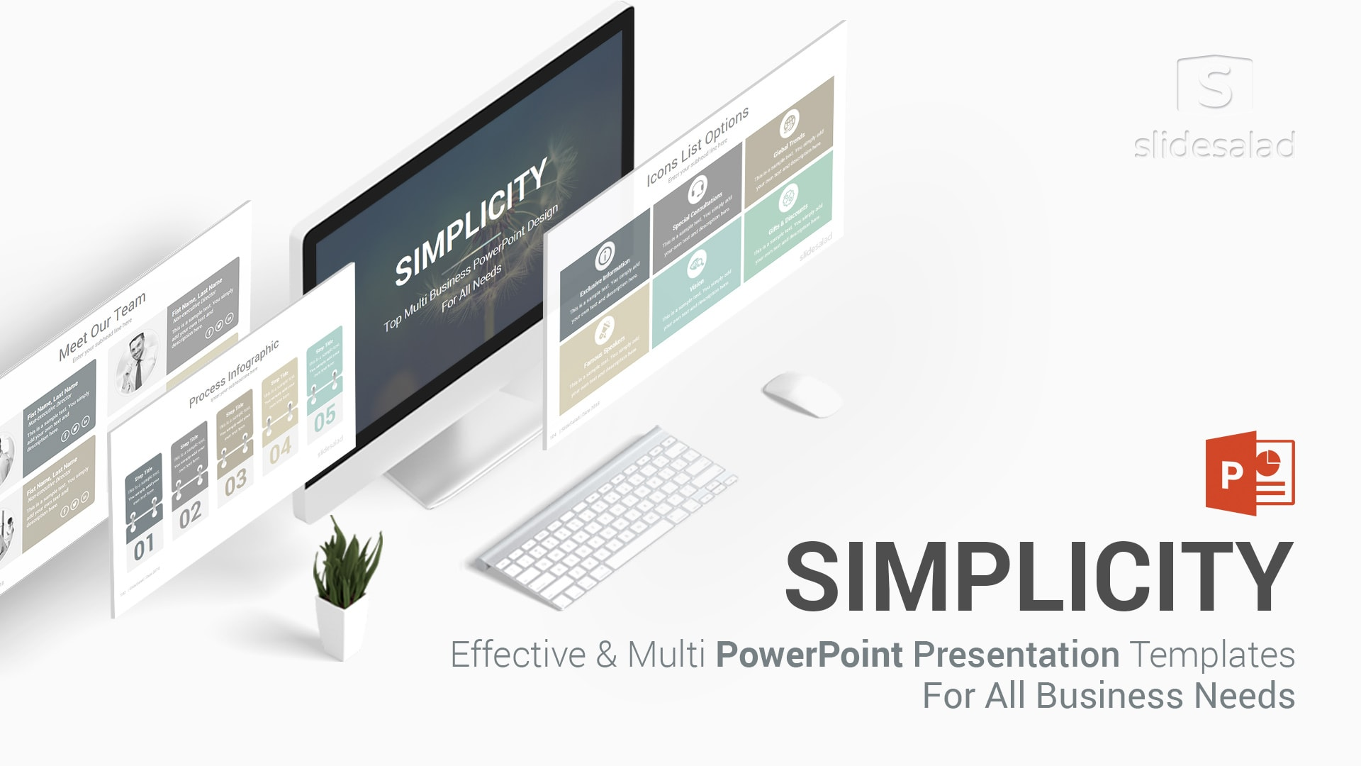 Simplicity Professional Business PowerPoint Templates