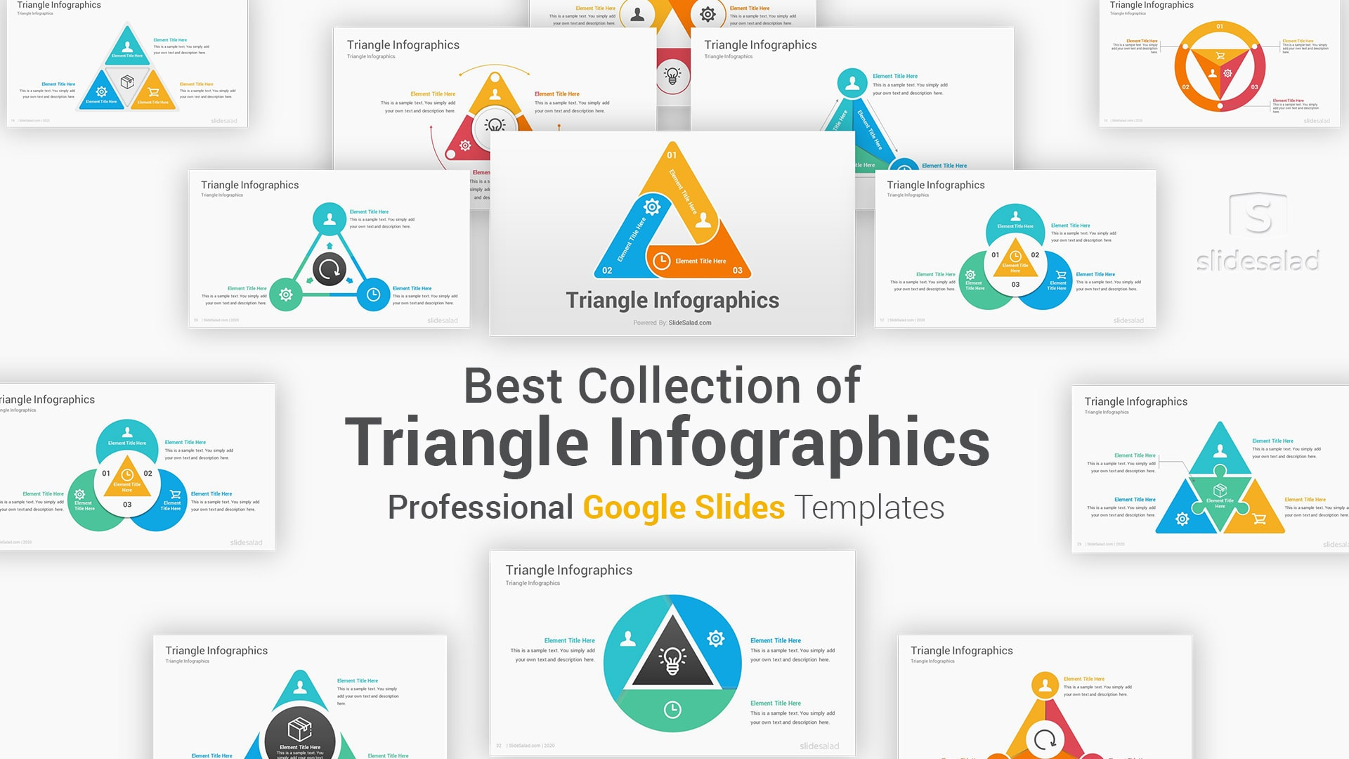 Triangle Infographics Google Slides Template Shapes