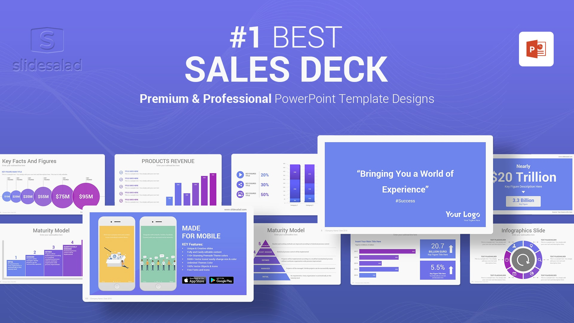 Best Sales Deck PowerPoint Templates - Top Webinar Slides Template