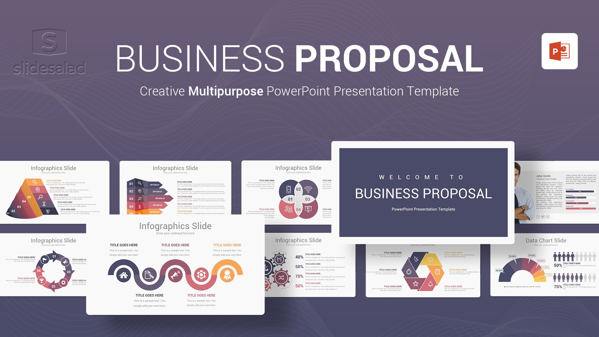 Business Proposal PowerPoint Presentation Template - High-Resolution Slideshow Webinar PowerPoint Template