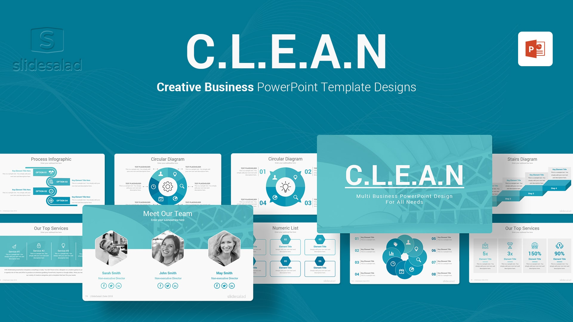 Clean Business PowerPoint Templates - Minimalist Webinar Templates