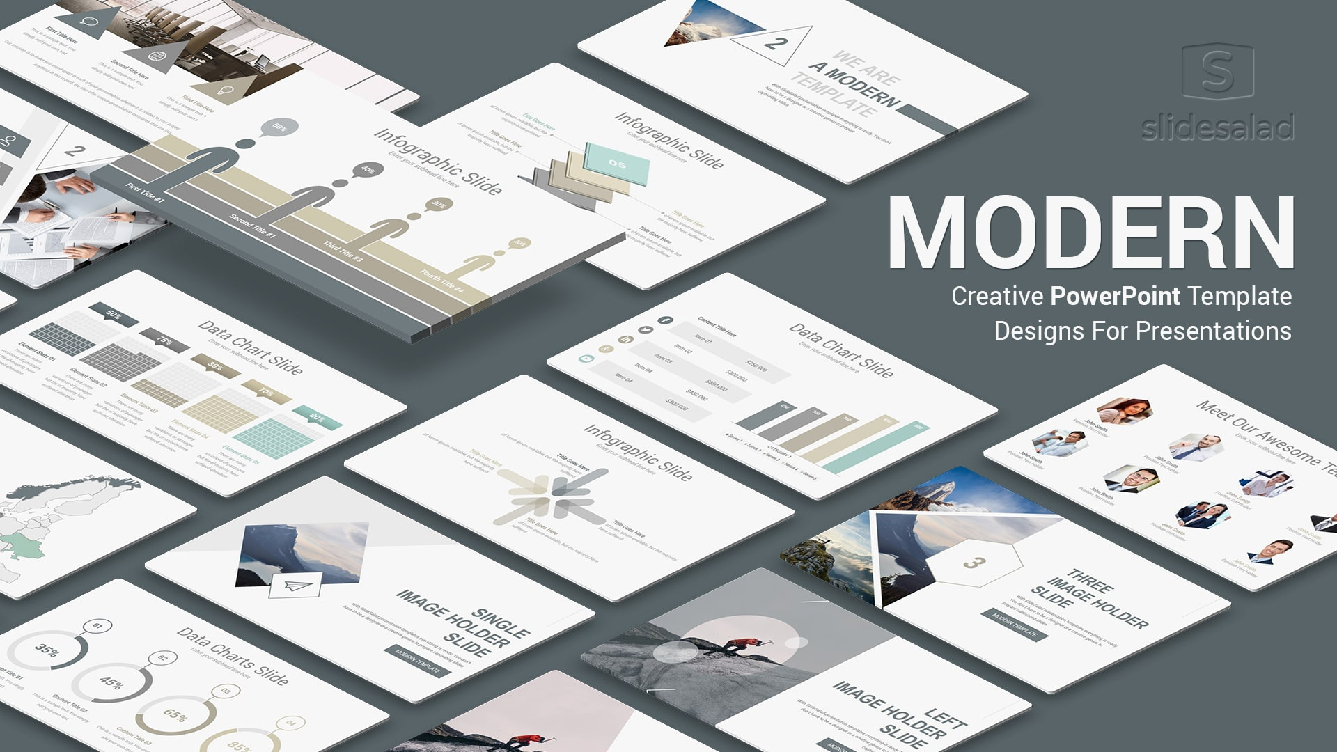 Modern PowerPoint Template for Presentation - Creative PPT Startup Pitch Deck With Cool Slides