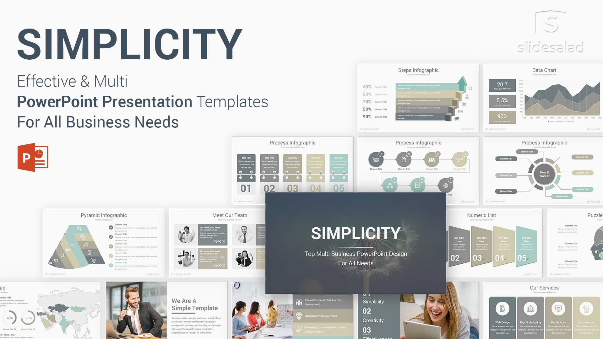 Simplicity Professional Business PowerPoint Templates - Best Amazing PPT Templates