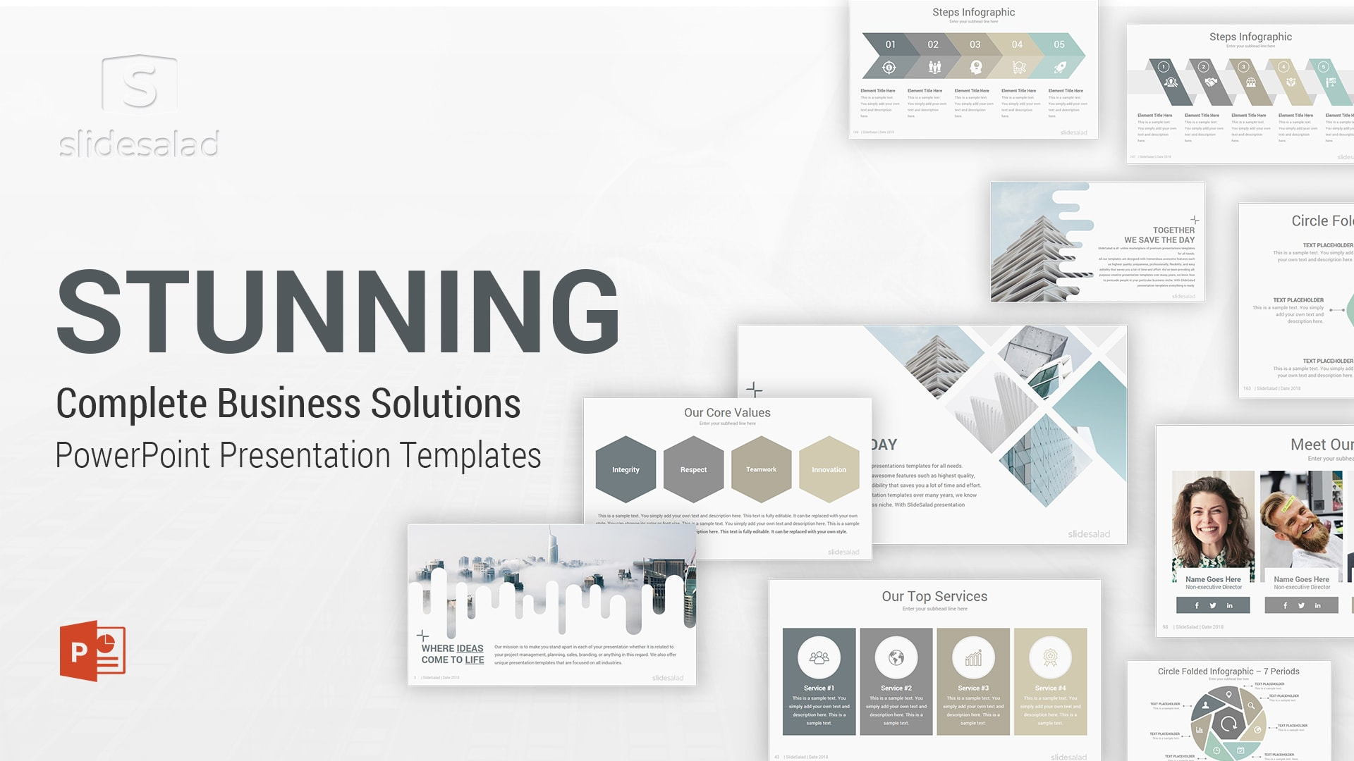 Stunning PowerPoint Template Multipurpose Designs - Elegant PowerPoint Template