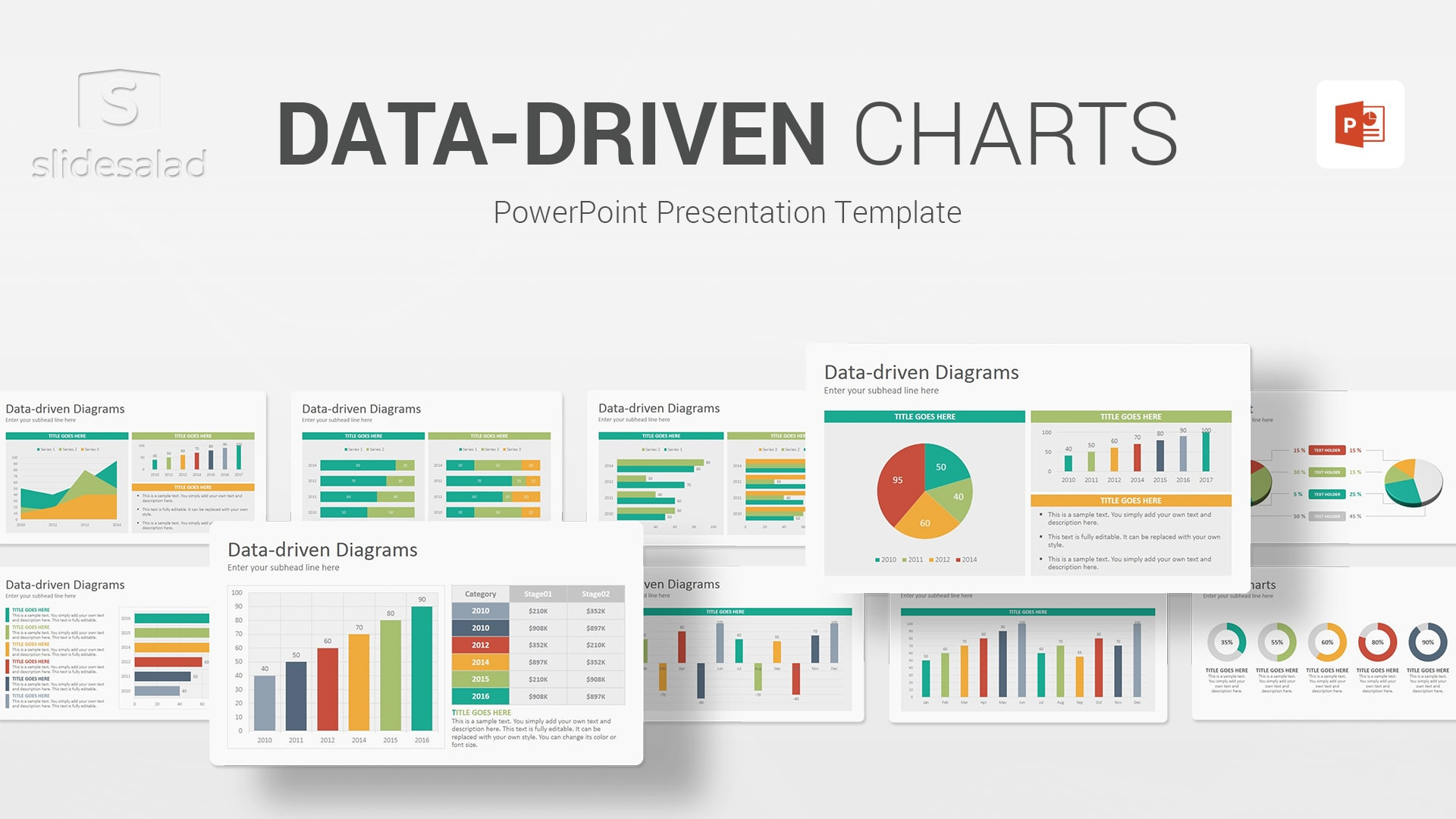 Data-Driven Charts Diagrams PowerPoint Presentation Template - All in one Webinar PowerPoint PPT Template