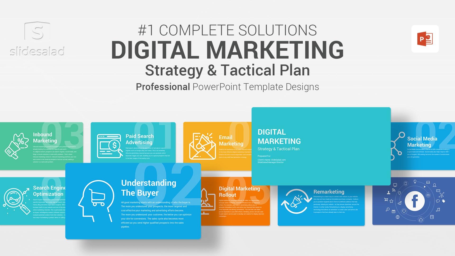 Digital Marketing PowerPoint (PPT) Template - Fully Customizable Online Marketing PPT Template Designs