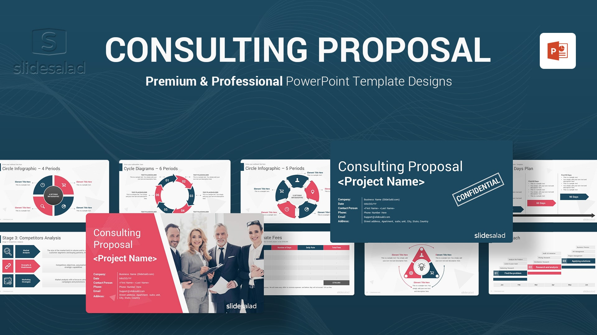 Consulting Proposal PowerPoint Template - Animated PowerPoint Template for Business Consultations