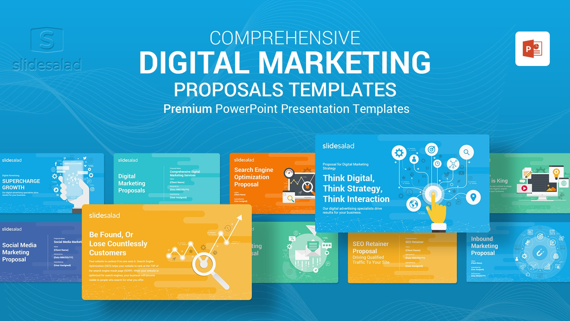 Digital Marketing Proposals PowerPoint Templates - Completely Customizable Online Marketing Proposal PowerPoint Template