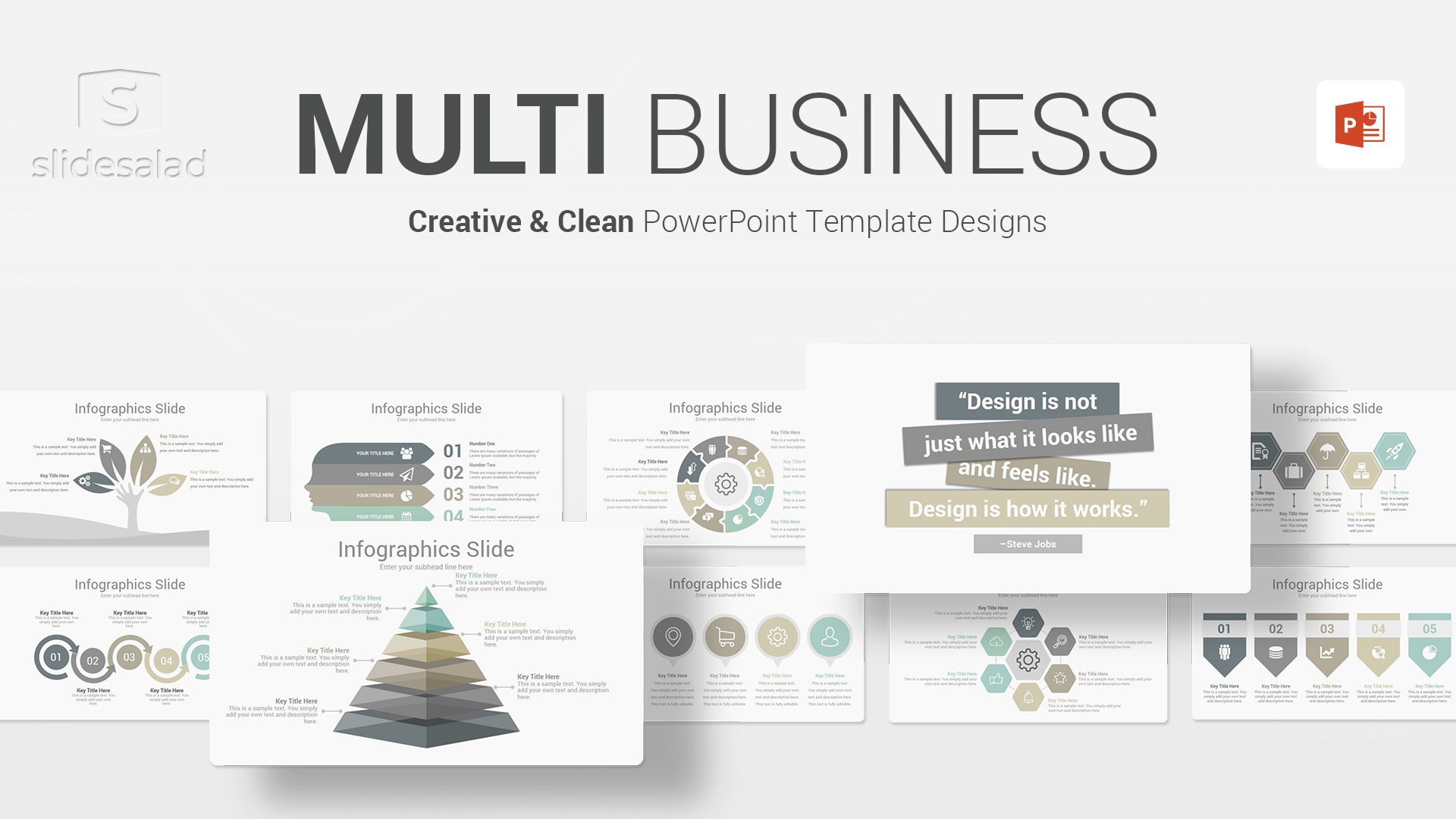 Multi Business PowerPoint Presentation Template - Customizable Multipurpose PPT Design Template