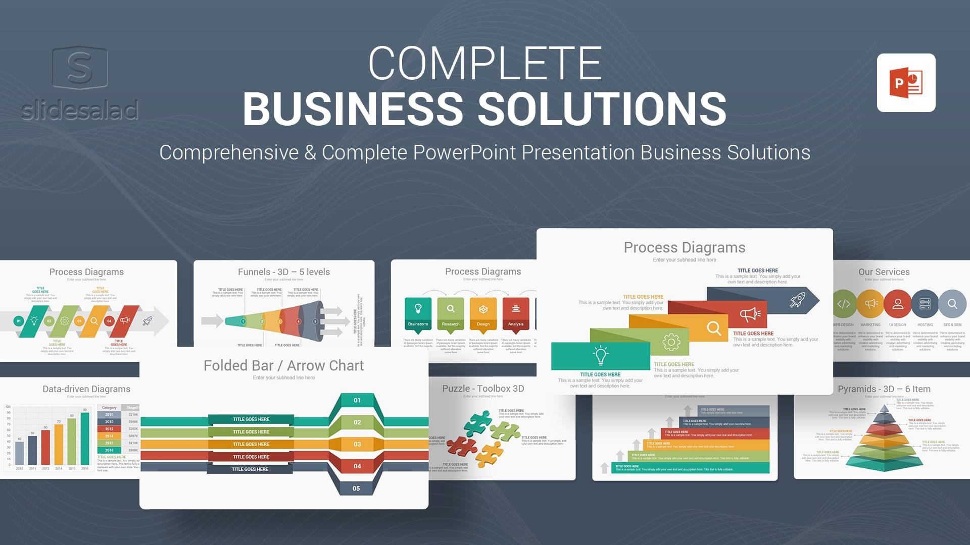 Complete Business Solutions Multipurpose PowerPoint Presentation Template - Multipurpose Custom PowerPoint Template