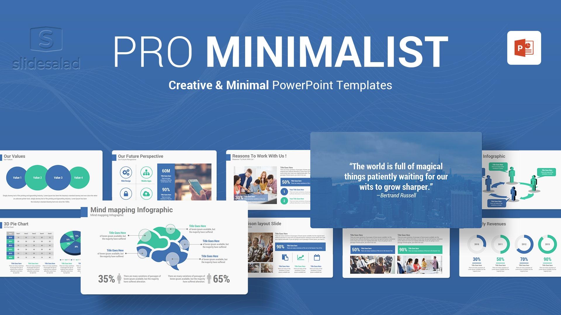 Minimalist PowerPoint Template Designs - Clean Custom PowerPoint Slide Show Template Design