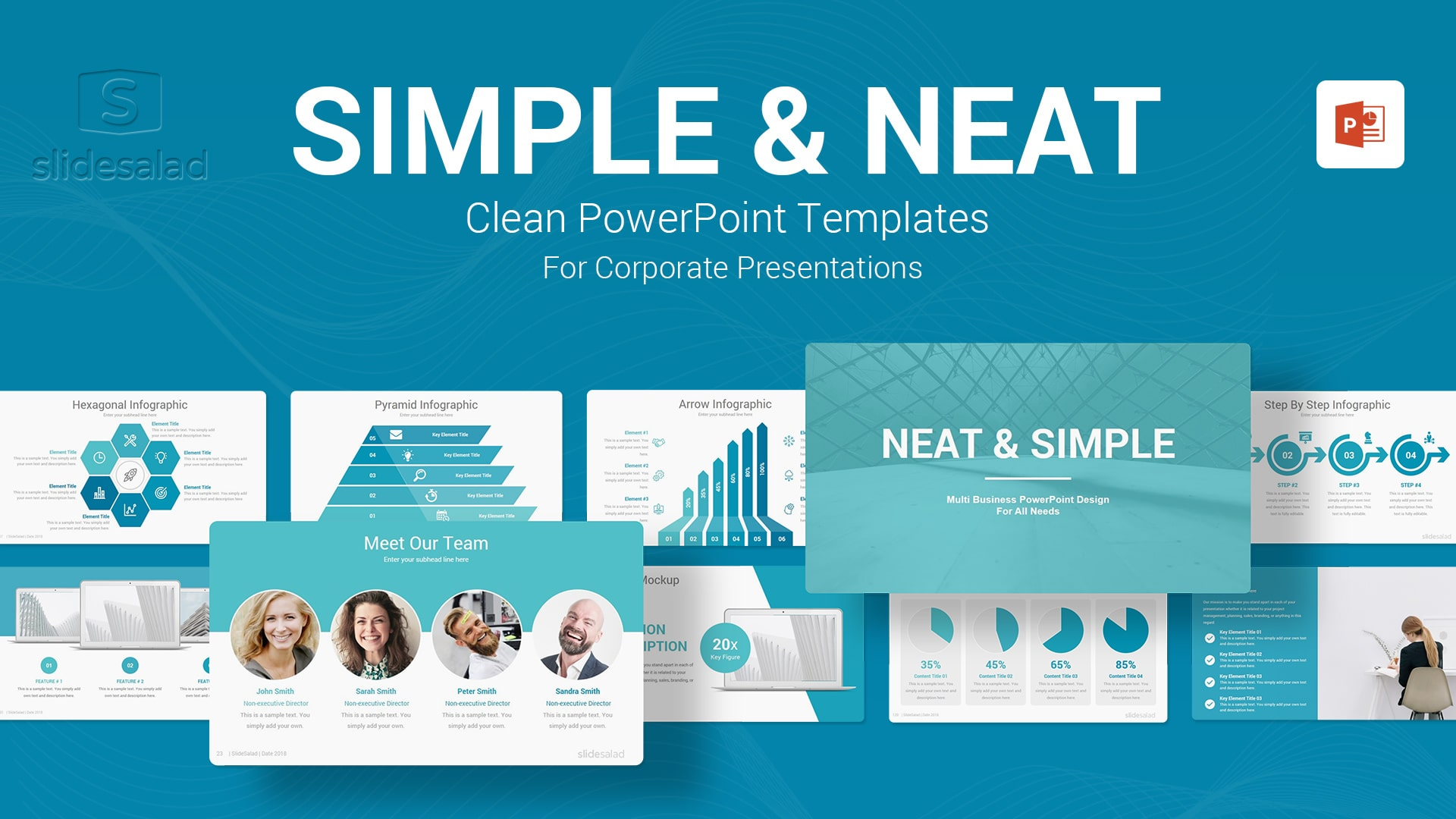 Simple PowerPoint Presentation Template - Minimal Entirely Customizable PowerPoint Themes