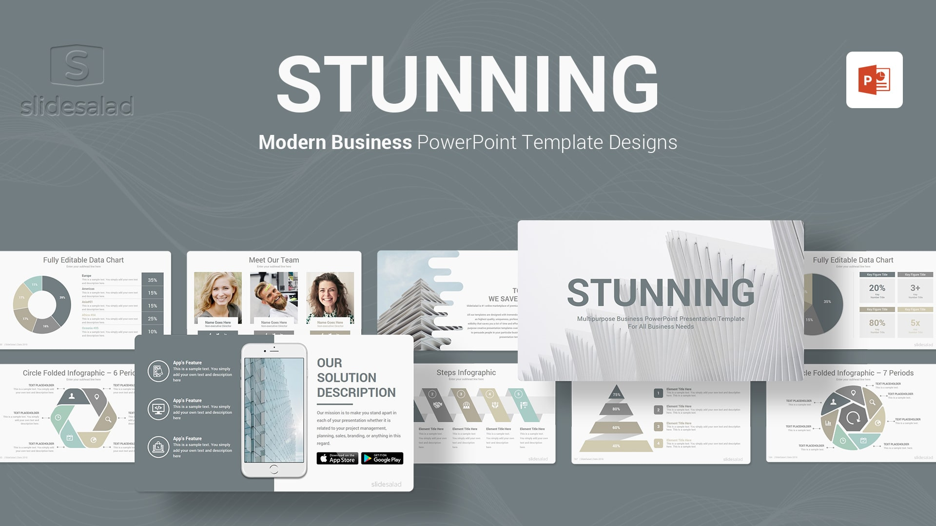 Stunning PowerPoint Template Multipurpose Designs - Vivid Customizable PowerPoint Presentation Template